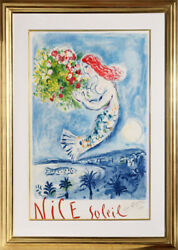 Marc Chagall La Naie des Anges (The Bay of Angels) Lithograph