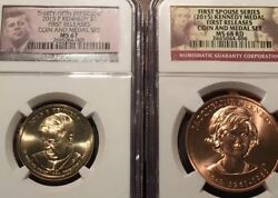 2015 Jfk Dollar Ms67 And Jackie Kennedy Medal Ms68rd -ngc First Releases. Low Pop