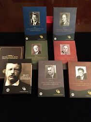 8 Coin And Chronicles Sets-lincoln/fdr/ted Roosevelt/reagan/truman/ike/kennedy/lbj
