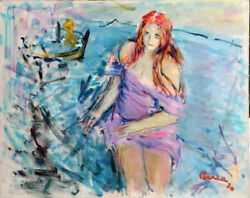 Dimitrie Berea Young Girl with Red Hair Oil Painting
