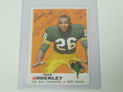 Herb Adderly Autographed Trading Card Packers