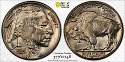 1935 S Buffalo Nickel Pcgs Ms 65 Crisp White Solid Gem With That Roll Fresh Look