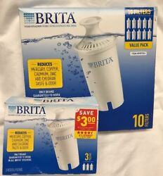13 Total Brita Replacement Water Filters 10 Pack + 3 pack Pitcher Filter