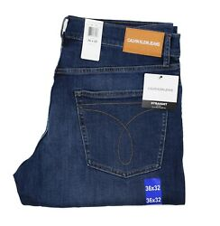 New Calvin Klein Men's Straight Fit Jeans All Sizes Mid Denim Color  $35.99