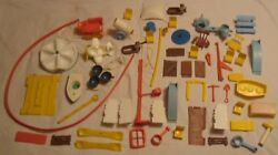Vintage Weeble Wobble 1970's Huge Lot Many Htf Parts Accessories Weebles