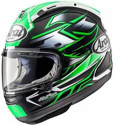 Arai Full-face Rx-7x Ghostgreen Head Circumference 57-58cm Ems F/s Made In Japan