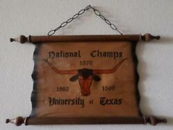 Vintage University Of Texas Longhorns National Champs Scroll 1963, 1969, And 1970