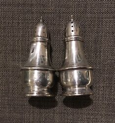 Lenox Silver Inc Nyc Sterling Silver 4 In Tall Salt And Pepper Shakers