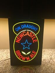 Newcastle Brown Ale Light Up Beer Pub Bar Sign Wall/post Mount Rare