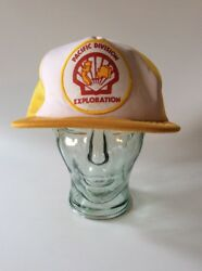 Vtg. 1980s Shell Oil Company Pacific Division Exploration Patch / Truckers Hat