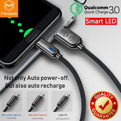 Mcdodo Qc 3.0 Quick Charge Led Auto Disconnect Usb Type C Data Cable Samsung Lg