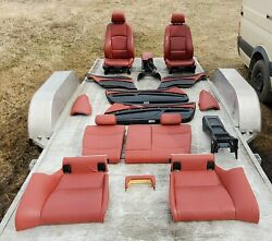 Red Heated Leather Seat Set Panel Console Seats BMW E92 328 335 Coupe OEM 07-13