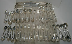 Vintage Rogers Bros Eternally Yours Flatware Silverplate 69 Pcs 50s 8 Place Set