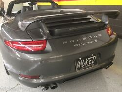 Porsche 991 Carrera Gtr Aerokit Tail Wing Spoiler Fits 2012 To 2016 Coupe And Cab