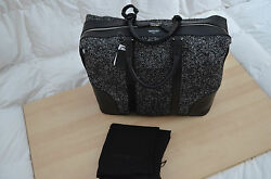 Authentic Dsquared2 Unisex Men Weekender Leather Wool Travel Bag Duffle Luggage