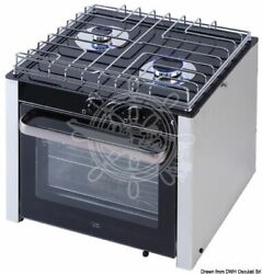 Osculati Gas Range With Cardan Joint Oven 2 Burners