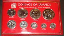 Franklin Mint 1979 Coinage Of Jamaica 9 Coin Uncirculated Set