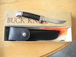 Rare Vintage Pre Date Code 3 Line Inverted Buck 118 Knife W/ Box And Sheath