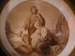 The Flight of The Holy Family  by Carl Muller -  Antique J. Kohlschein Engraving