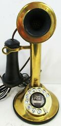 American Electric Brass Candlestick Rotary Dial Circa 1910
