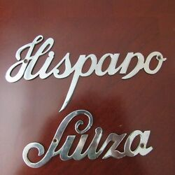 Vintage Antique Car Hispano Suiza Nameplate Original Part In V.g. Condition