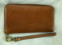 FOSSIL EMMA SMARTPHONE WRISTLET BROWN LEATHER NWT