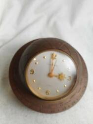 Vtg J E Caldwell And Co 8 Day 15 Jewel Brass World And World Time Zones Desk Clocks