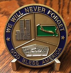 Americas New War We Will Never Forget 9-11 Challenge Coin
