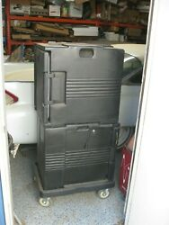 Cambro H-series Model 47620 Heated And Cold Cabinet On Wheels Catering Food