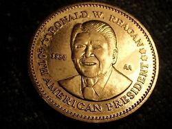 1984 Proof Large 32 Mm Double Eagle Ronald Reagan