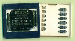 Waitch's Hypodermic Needles  6  Vintage New Old Stock