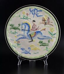 Viktor Schreckengost For Cowan Pottery Hunting Fox Hunt Wall Plaque Plate