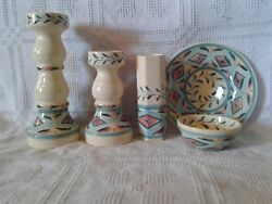 5 Pc. Set Of Gail Pittman Southern Living At Home Tuscan Trellis Candle Holder