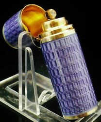 Immaculate Sterling Silver Enamel Scent Bottle Claude Ernest Collins London 1913