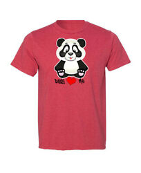 Daddy Loves Me Novelty Father's Day Panda Unisex T-Shirt