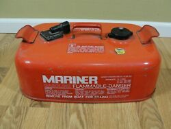 Very Rare Vintage Mariner Outboard Fuel Tank Gas Can 3.7 Gallon Nice
