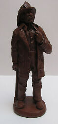 Red Mill Mfg Fireman Figurine Statue Euc 331 Marked Wetherbee 1991