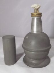 Vintage Bladon Pewter Oil / Spirit Lamp With Cap Made For The Gpo Post Office