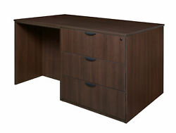 Latitude Run Linh Stand Up Lateral File and 3 Desk Quad