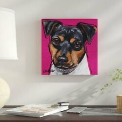 Winston Porter 'Terrier Mania' Acrylic Painting Print on Wrapped Canvas