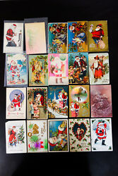 Us Santa Claus Stamped Postcard Collection