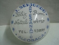 Antique Glass Paper Weight Craftwork Merry Christmas And Happy New Year