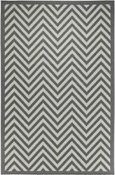 Ebern Designs Trip Chevron Light GrayAnthracite IndoorOutdoor Area Rug