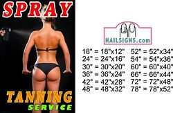 Tanning 06 Photo-realistic Paper Poster Sign Non-laminate Spray Service Vertical