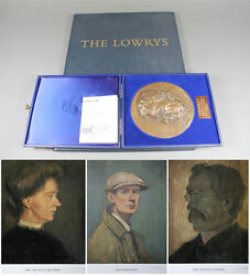 Ls Lowry Signed 3 X Limited Edition Prints Self Portrait Mother Father And Bronze