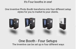 Photo Booth, Inventive 4 In 1 Portable Photo Booth W/ Studio Backdrop