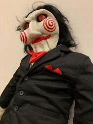 Saw Horror Movie Jigsaw Doll Decor Collectible Rare Figure Big Plush Toy Japan