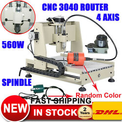 4 AXIS CNC 3040 Router 560W Engraver Machine Engraving Drilling 3D Cut Carving