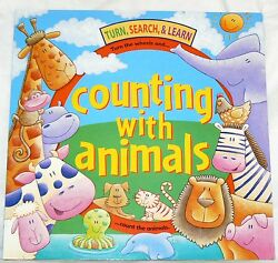Turn Search And Learn Counting W/ Animals - 2007 Pb Interactive Wheel Numbers