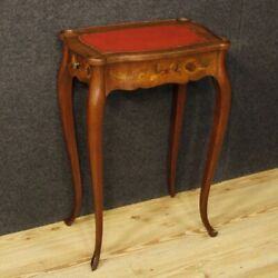 Bedside Low Table Wood Inlaid Furniture French Drawers Antique 900 Xx Antiquity